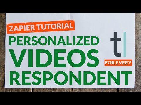 How to Create a Personalized Video for Typeform Lead with Zapier