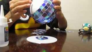 HOW TO MAKE A DISCO BALL D.I.Y.  