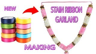 New Stain Ribbon Garland Making | DIY Garland | Griha Udyog