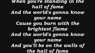 the script hall of fame lyrics hq - TH-Clip