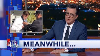 "Meanwhile... A police officer showed a teen how to tie his tie during a traffic stop. You can read all about it in Meanwhile's favorite magazine about things that only happen to white people. #Colbert #LSSC #Meanwhile  Subscribe To ""The Late Show"" Channel HERE: http://bit.ly/ColbertYouTube For more content from ""The Late Show with Stephen Colbert"", click HERE: http://bit.ly/1AKISnR Watch full episodes of ""The Late Show"" HERE: http://bit.ly/1Puei40 Like ""The Late Show"" on Facebook HERE: http://on.fb.me/1df139Y Follow ""The Late Show"" on Twitter HERE: http://bit.ly/1dMzZzG Follow ""The Late Show"" on Google+ HERE: http://bit.ly/1JlGgzw Follow ""The Late Show"" on Instagram HERE: http://bit.ly/29wfREj Follow ""The Late Show"" on Tumblr HERE: http://bit.ly/29DVvtR  Watch The Late Show with Stephen Colbert weeknights at 11:35 PM ET/10:35 PM CT. Only on CBS.  Get the CBS app for iPhone & iPad! Click HERE: http://bit.ly/12rLxge  Get new episodes of shows you love across devices the next day, stream live TV, and watch full seasons of CBS fan favorites anytime, anywhere with CBS All Access. Try it free! http://bit.ly/1OQA29B  --- The Late Show with Stephen Colbert is the premier late night talk show on CBS, airing at 11:35pm EST, streaming online via CBS All Access, and delivered to the International Space Station on a USB drive taped to a weather balloon. Every night, viewers can expect: Comedy, humor, funny moments, witty interviews, celebrities, famous people, movie stars, bits, humorous celebrities doing bits, funny celebs, big group photos of every star from Hollywood, even the reclusive ones, plus also jokes."