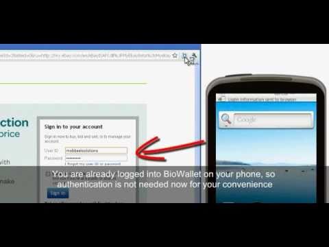 Video of BioWallet2Browser