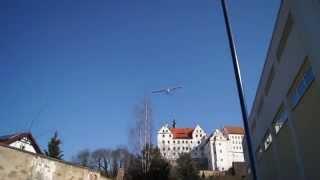 preview picture of video 'Castle Colditz Glider Flight, Fluchtversuch Schloss Colditz'