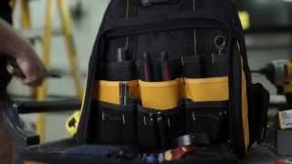 DEWALT by CLC Lighted Tool Backpack Bag