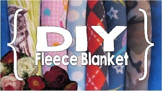 How To Sew A Fleece Blanket ║ DIY