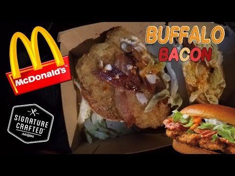 McDonalds Buffalo Bacon Signature Crafted Sandwich