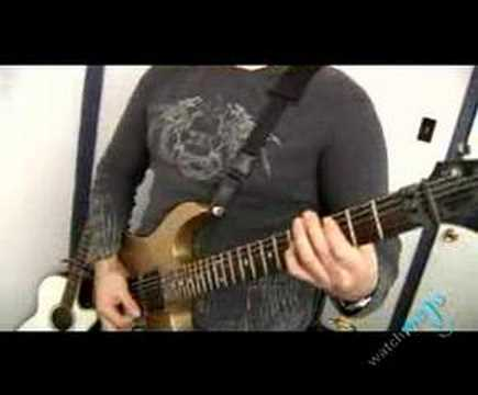 Guitarist playing the Riff from Wasted by Def Leppard