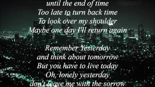 Remember Yesterday - Hammerfall (lyrics)