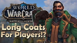 Kul'Tiran Heritage Armor Confirmed? Long Coats for PLAYERS!? - In Game Preview | World of Warcraft