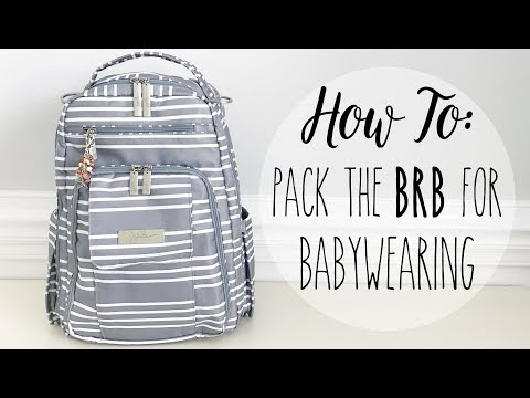 How To: Pack Your Diaper Bag for Babywearing! Ft. Ju-Ju-Be BRB Functional & Simplistic Packing