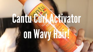 Cantu Curl Activator Cream Review - Wavy Hair First Impression
