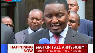 Agriculture CS Mwangi Kiunjuri talks about the war on army worm