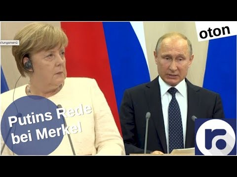 Putin mit Merkel in Sotschi auf deutsch [Video]