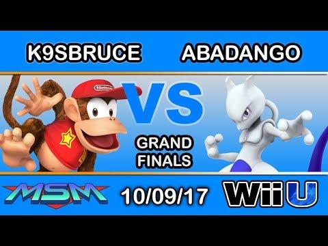 MSM 117 - MF LH | K9sbruce (Diddy Kong, Sheik) Vs. LG | Abadango (Mewtwo) Grand Finals