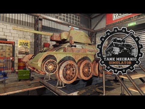 Tank Mechanic Simulator - Říkal někdo oprava tanků?! ANO PROSÍM!