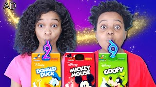 Shiloh and Shasha Have Fun With Disney Mickey and Friends Drinks + Magic MakAR App - Onyx Kids