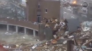 Compilation Epic Tsunami Scenes Terrible Elemental Destruction Part 2/Подборка Эпических цунами № 2