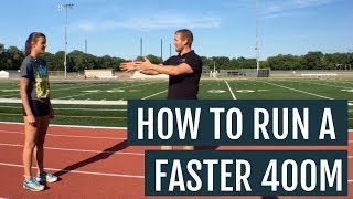 How to Run the 400M Faster with Ball of Foot Striking