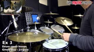 Green Day - 21 Guns - FREE DRUM LESSON