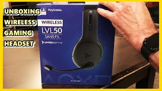 PDP LVL50 WIRELESS STEREO GAMING HEADSET FOR PLAYSTATION 4 GRAY. UNBOXING & REVIEW