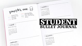 bullet journal for students | minimalist and functional bullet journal setup for school
