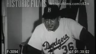 SPORTS - DON NEWCOMBE, TALK OF THE BASEBALL WORLD - 1955