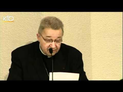 Séance de clôture de l'Assemblée plénière des évêques à Lourdes
