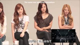 [ENG SUB] 1080p HD 120928 SNSD's Reactions to Bad Girl MV