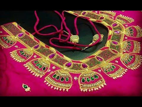 1ae9b11c4fe92 Amazing Aari Embroidery Work Blouse Designs For Wedding Pattu Sarees ...