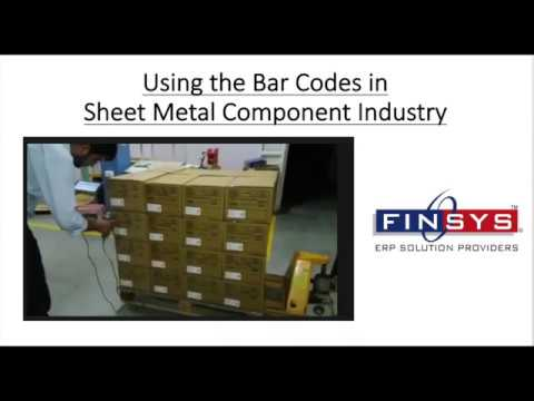 Finsys ERP Software Manuals Barcode in Sheet Metal components Industry