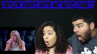 Taylor Swift | REAL VOICE (WITHOUT AUTO-TUNE) REACTION!