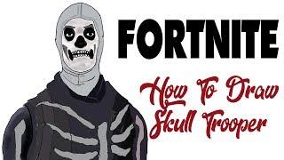 How To Draw Fortnite Skins Skull Trooper Free Online Videos Best