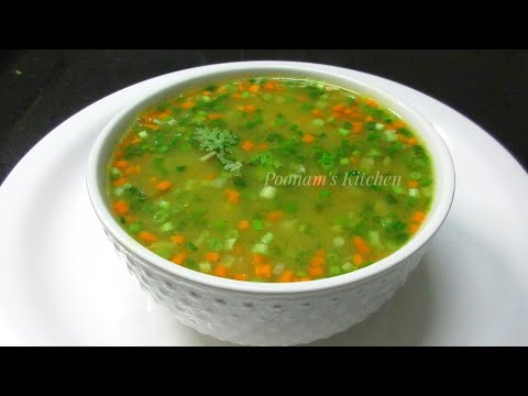 Video Vegetable Clear Soup Recipe - Simple Easy & Healthy Vegetable Clear Soup -How to make Veg Clear Soup