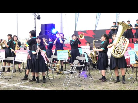 【4K】いわない怒涛まつり ジュニアコンサート「いわない第一中学校」2019/8/3 Panasonicデジタル4KビデオカメラWXF1M撮影映像