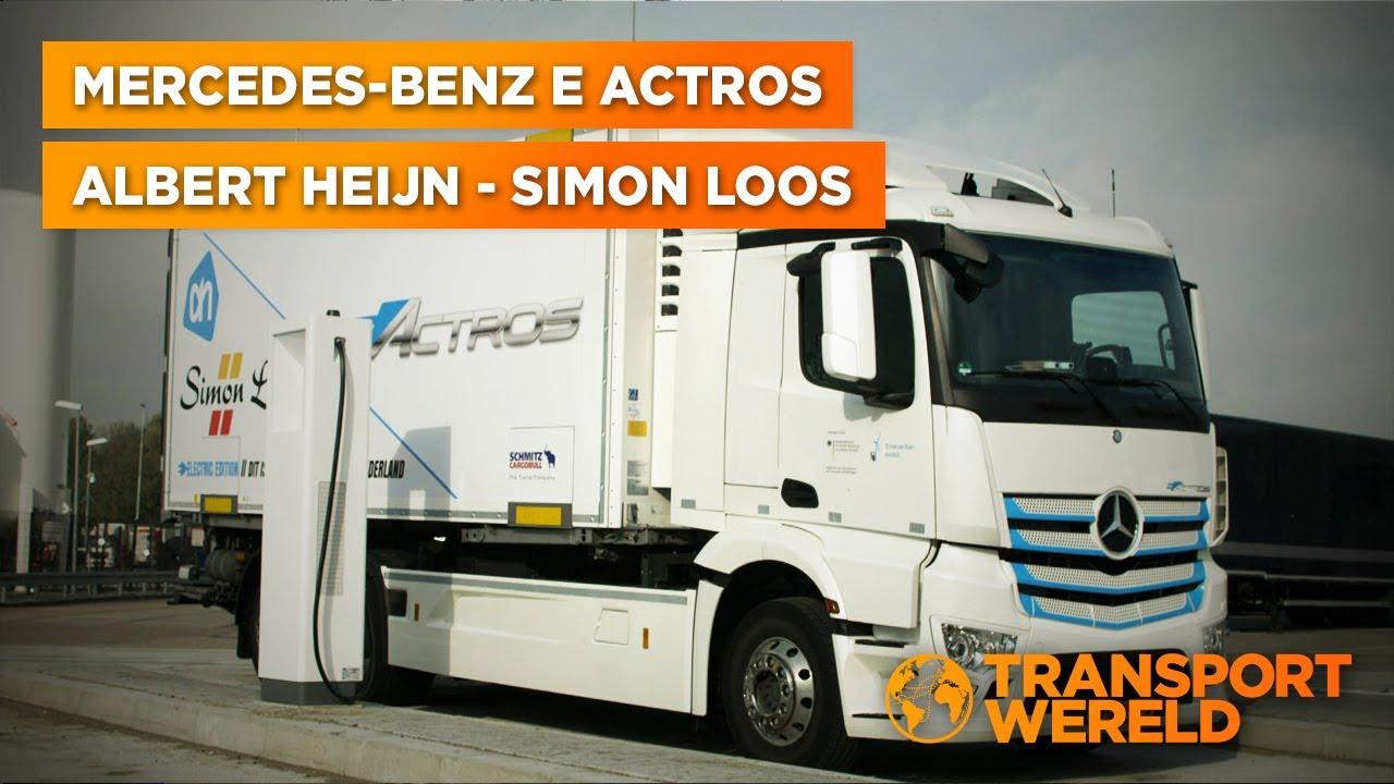 Albert Heijn bevoorraden met het prototype van de Mercedes-Benz eActros