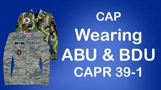 Civil Air Patrol - How to wear your ABU & BDU! | CAPR 39-1
