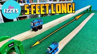 THE LONGEST TRAIN TRACK EVER (DIY)