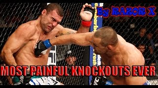 MOST PAINFUL KNOCKOUTS EVER ! ШОКИРУЮЩЕЕ НОКАУТЫ ! ULTIMATE UFC KNOCKOUTS