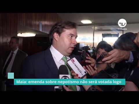 Maia nega que projeto sobre nepotismo será usado contra Eduardo Bolsonaro - 14/08/19