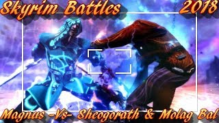 Skyrim Battles - Sheogorath & Molag Bal vs Magnus [Legendary Settings]