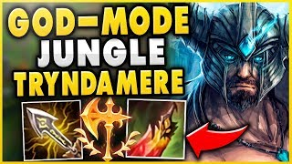 THE ABSOLUTE BEST JUNGLE TRYNDAMERE BUILD + STRATEGY! CARRY EVERY GAME! - League of Legends