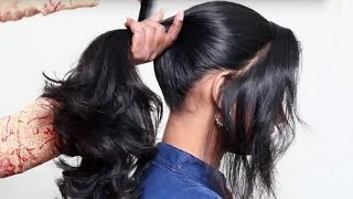 3 Different Ponytail Hairstyles for School Girls    Last Minute Hairstyles for School Girls 2018