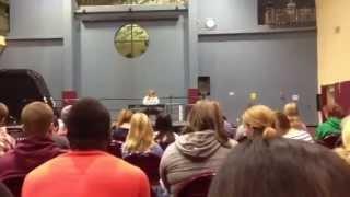 Carolyn Hoke sings The Edge of Glory (Lady Gaga) at Talent Show