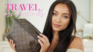 Whats In My Travel Makeup/Toiletry Bag! Travel Essentials | Stephanie Ledda
