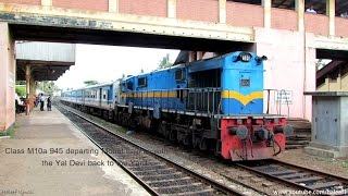 preview picture of video 'Class M10a 945 departs Mount Lavinia, headed back to the Yard with the Yal Devi from Jaffna'