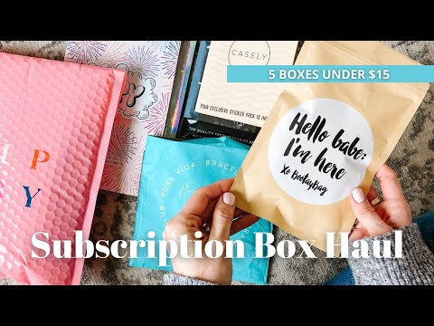 5 Subscription Boxes Under $15