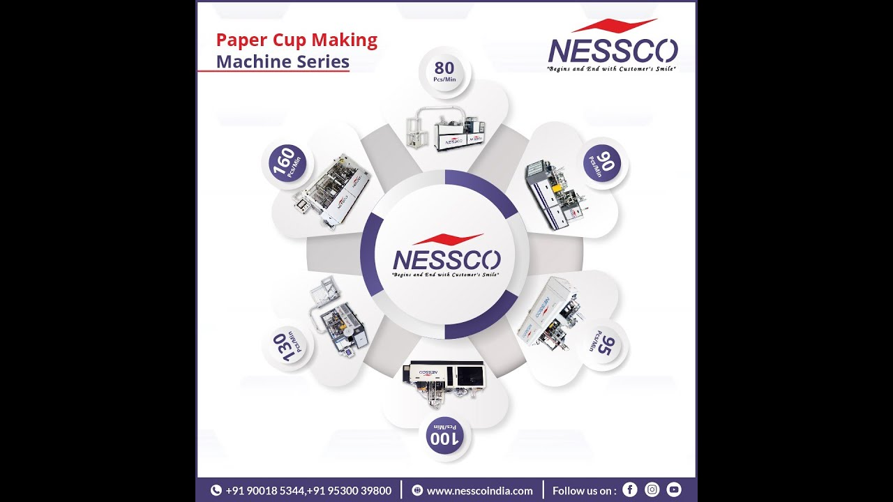 Paper Cup Making Machine Series   Book Your Paper Cup Machine   Nesscoindia