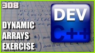 C++ EXERCISES Dynamic Arrays using malloc