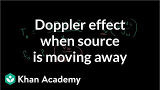 Doppler effect formula when source is moving away