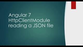 Angular 7 HttpClientModule Read Json File  Sample